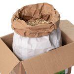 Miscanthus-Häcksel-Einstreu im Papiersack